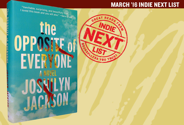 March 2016 Indie Next List Header Image